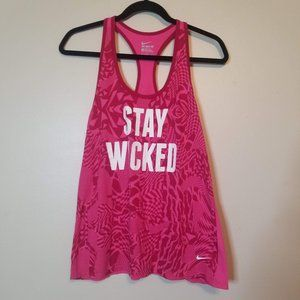 Nike Stay Wicked Hot Pink/Magenta Workout Tank SzL
